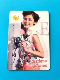 (包郵) 蔡卓妍 Twins Yes卡 彩簽/ Charlene Yes Card