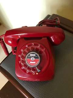Telecoms red rotary phone