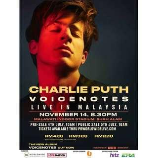 Charlie Puth VOICENOTES Tour Malaysia 2018 (Umobile Zone)