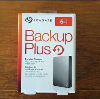 🚚 5TB Seagate Backup Plus Portable Hard Disk Drive HDD