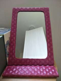 Pink Leather Mirror