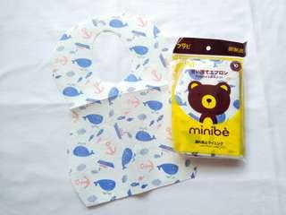 Flavi Minibe Disposable Apron/ Bib (Celemek Makan) - Whale