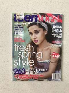 Teen Vogue Ariana Grande Feb 2014 edition