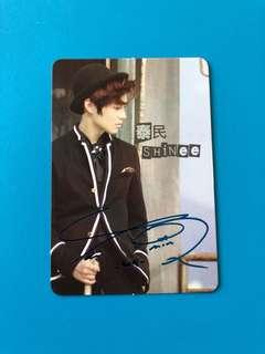 (包郵) 泰民 SHINee Yes卡 彩簽/ Taemin Yes Card