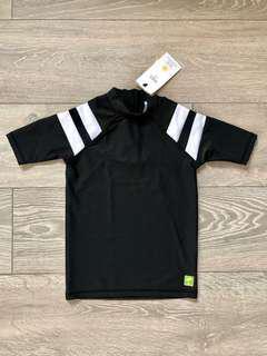 Marks & Spencer Black Swim Rash Vest Size 5-6