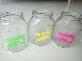 #Blessing Free 🎁 3 x Nutella glass bottles collectibles
