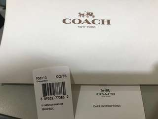 Coach ID Card Case Signature Charcoal/Black