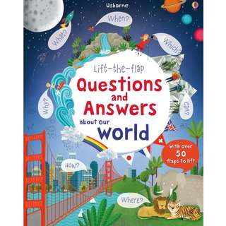 Usborne Hard Cover book*Lift the Flap Questions and Answers About Our World*Educational book*Children book*Birthday gift*Pre school toy*
