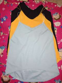 Crepe cami long back top