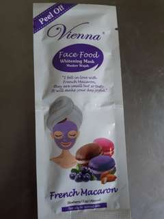 Vienna Face Food Whitening Mask Peel Off French Macaron