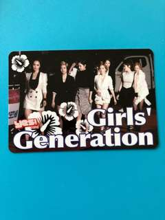 (包郵) 少女時代 Yes卡 硬卡/ Girls' Generation Yes Card