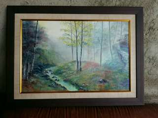 Lukisan oil painting lanscape