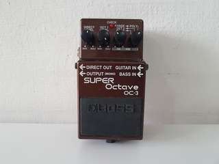 Boss OC-3 SUPER OCTAVE guitar effect pedal.