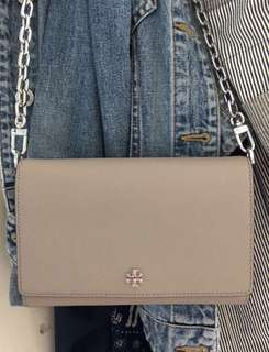 Tory Burch 全新 Chain Wallet 100% Real