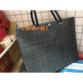 【陽陽小舖】《弘裕》后羿提袋(材質PVC特斯林網布)時尚環保編織袋