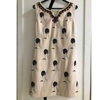 时尚印花民族小洋装 (worn once only)Fashion Printed Dress