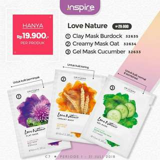 Masker love nature clay mask