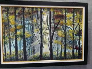 Hiasan dinding oil painting