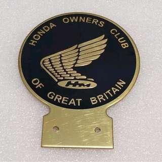HONDA Owner Badge Brass Repro vespa bsa levis nike adidas