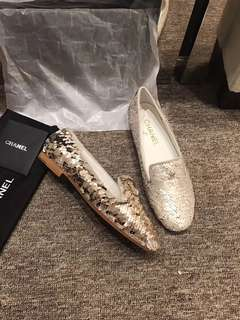 Chanel Sequinned Flat Shoes