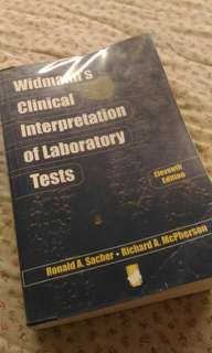 Widmann's Clinical Interpretation of Laboratory Tests 11th Edition Medical Technology Textbook