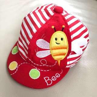 Red Happy Bee Cap