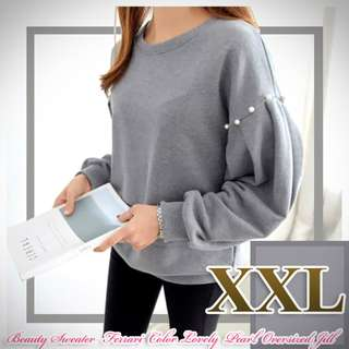 Atasan Beauty Sweater XXL Ferrari Color Lovely Pearl Oversized Jill