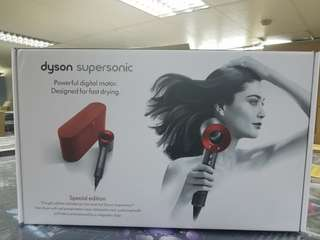 Dyson HD01 Supersonic Red with Red Leather Box, Limited Edition. UK specs