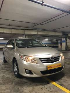 TOYOTA COROLLA ALTIS 1.6 AUTO!Promo Now! Petrol Saver Proven! 18% off petrol Card! Lowest Price! Can Drive Grab/RydeX/Sixtnc! Flexible Rental Scheme! Personal User! Call Now!
