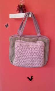 Tas Rajut pink handmade