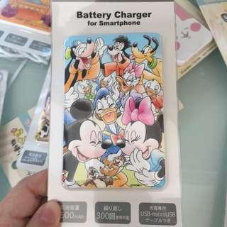 日本迪士尼 米奇 米妮 唐老鴨 尿袋 2500mAh 包順豐自取