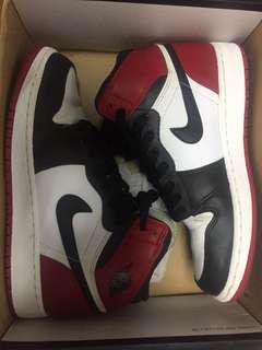 Jordan1 黑頭 black toe 4y
