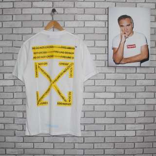 OFF WHITE FIRE LINE TEE