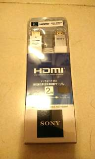 Sony high speed HDMI 2M cable