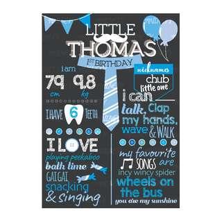 Little Man Milestone Board (Design & Print)