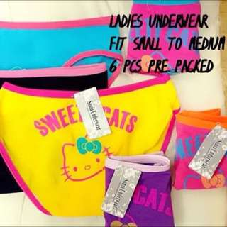 LADIES UNDIES (6pcs)