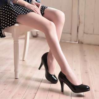 Ladies Elegant Office Wear Round-toe  Classic High Stiletto Heels Shoe