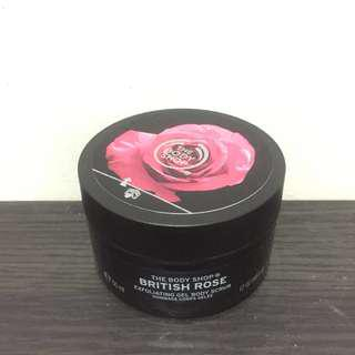 Exfoliating Gel Body Scrub British Rose - The Body Shop (Original-Authentic)
