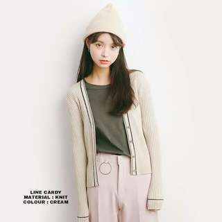 JN - 0418 - Outwear Jaket atau Sweater Line cardy