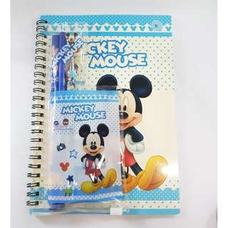 Mickey Mouse Stationary Set With Pen & NoteBook