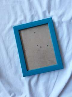 Teal blue picture frame