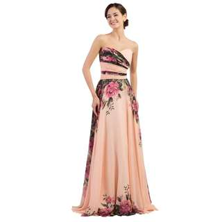 Chiffon floral gown