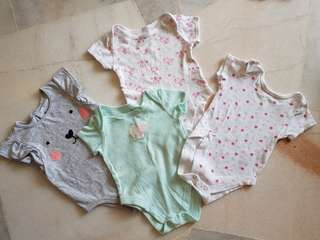 4pcs Baby Girl Rompers (3-6m)