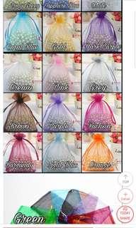 Mesh drawstring jewellery gift bags