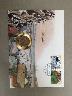 Denmark UNC coin in Faroe Is. FDC