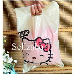 Kitty Carrier Plastic Bags 20 Pcs : Handles Type Put Clothes Clothings Boutiques Storage Store Sell Sellers Selling Stationery Stationeries Yellow Colour Sellzabo About 35cm x 25cm