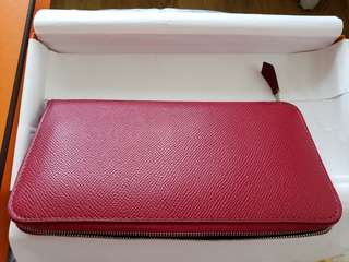 RARE* Hermes full leather epsom wallet