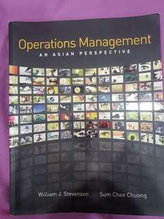 🚚 Operations Management An Asian Perspective William J Stevenson, Sum Chee Chuong