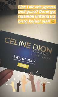 For sale celine dion ticket GOLD B only one
