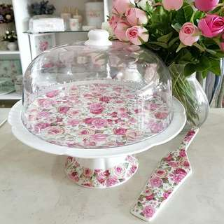 Cake stand include spoon SHABBY